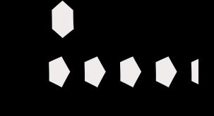 Opbygningen af inulin. Inulin er et polysakkarid, der typisk består af et glukosemolekyle og efterfølgende flere fruktosemolekyler. Illustration: Morten Christensen