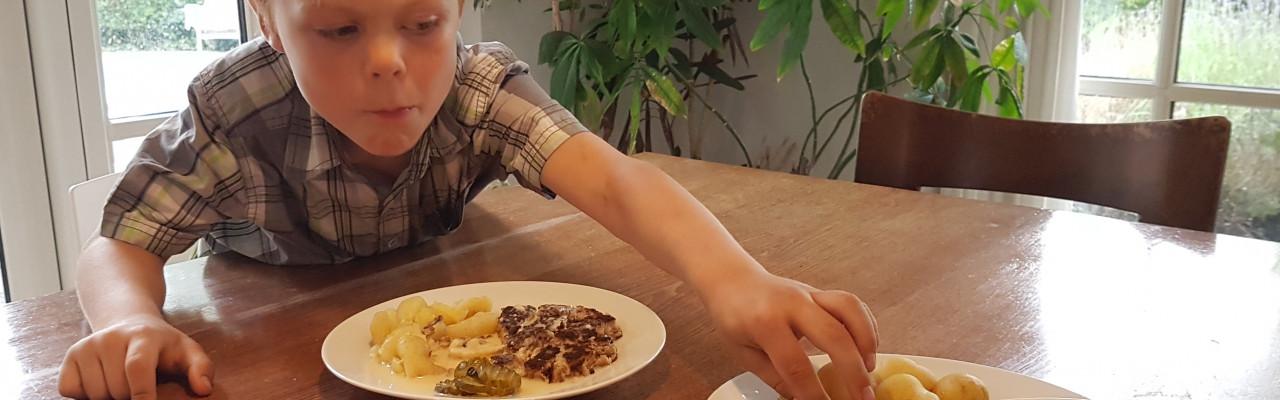 Forskning bekræfter nu, at børn kan have klare ønsker om, hvordan maden ligger på tallerkenen. Foto: Københavns Universitet