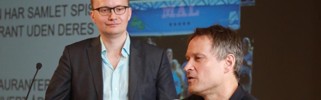 Jonatan Leer og Claus Meyer til konferencen Smag og Læring. Foto: Chromascope.