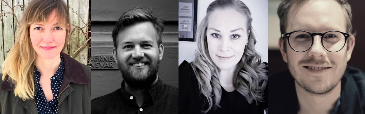 Smagsambassadører: Kristine Böhm Nielsen, Asmus Gamdrup, Lisa Hansen og Mathias Porsmose Clausen.