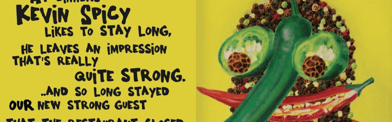 Kevin Spicy er en af The Tastebuddies fra Leo Sagastuy. Foto fra bogen.