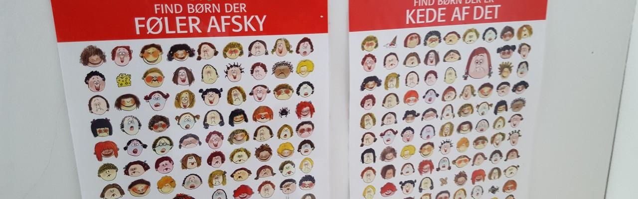 Hvad vil det sige at føle afsky for noget? Plakaterne her skal vise eksempler på, hvordan afsky kan ses i vores ansigter. Foto: Susanne Højlund