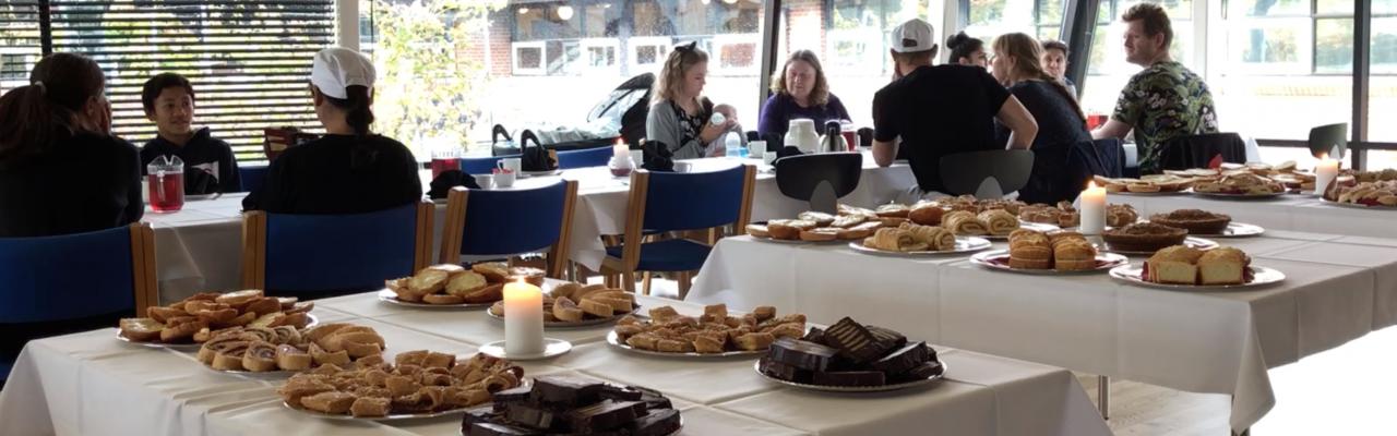 Sønderjysk kaffebords første del, kreeret af bagereleverne på Kold College. Foto: Eva Rymann