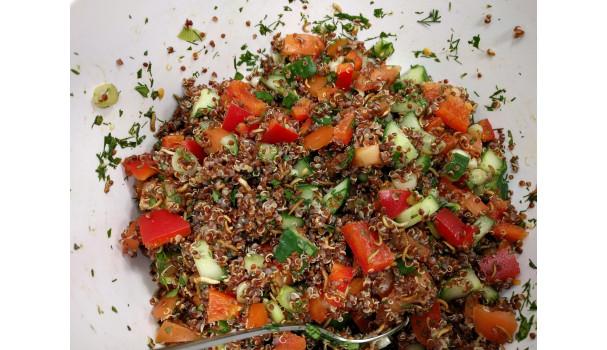 Tabbouleh med quinoa og buffalo-orme