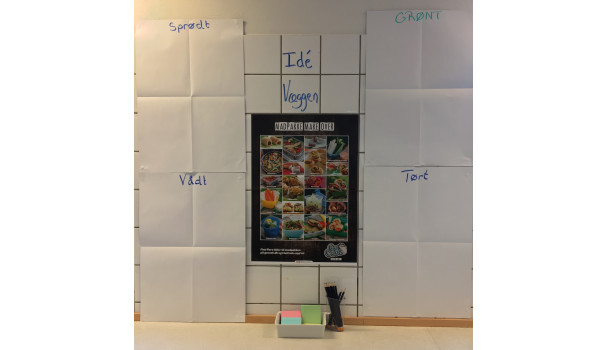 Sådan så det ud, da madkundskabseleverne fra 8. klasse på Åvangsskolen ideudviklede og producerede fremtidens madpakker. Fotos: Mikael Schneider.